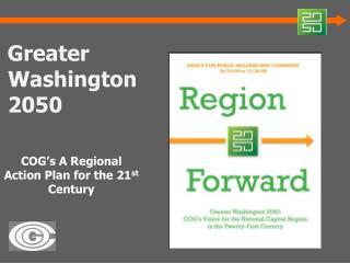 Greater Washington 2050