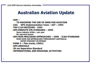 Australian Aviation Update