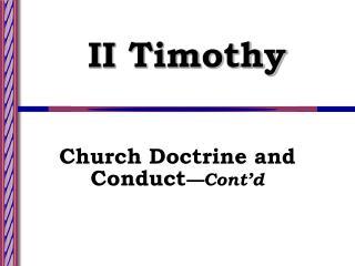 II Timothy
