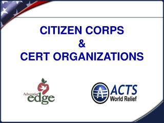 CITIZEN CORPS & CERT ORGANIZATIONS