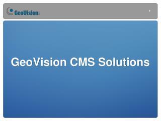 GeoVision CMS Solutions