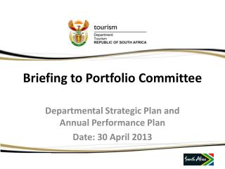 Briefing to Portfolio Committee