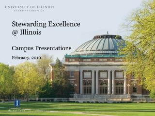 Stewarding Excellence  Illinois  Campus Presentations