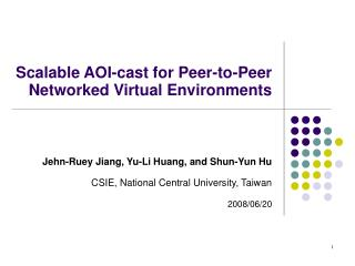 Scalable AOI-cast for Peer-to-Peer Networked Virtual Environments