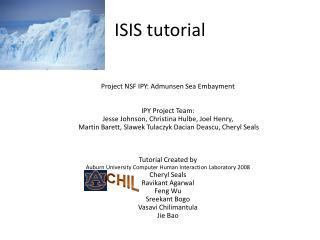 ISIS tutorial