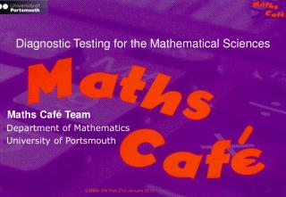 Diagnostic Testing for the Mathematical Sciences