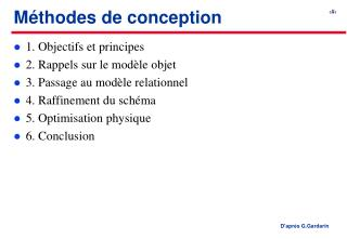 Méthodes de conception