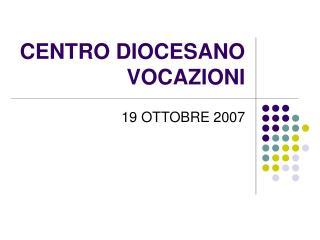 CENTRO DIOCESANO VOCAZIONI