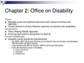 Chapter 2: Office on Disability