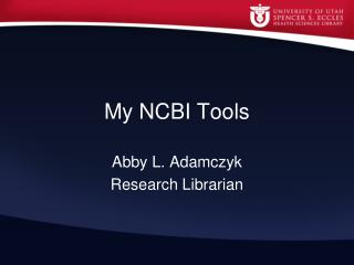 My NCBI Tools
