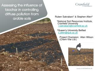 Assessing the influence of biochar in controlling diffuse pollution from arable soils