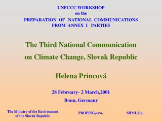 UNFCCC WORKSHOP on the