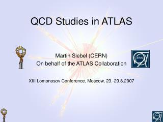 QCD Studies in ATLAS