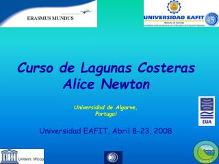Curso de Lagunas Costeras Alice Newton Universidad de Algarve,  Portugal