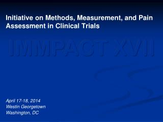 Initiative on Methods, Measurement, and Pain Assessment in Clinical Trials