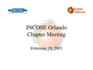 INCOSE Orlando  Chapter Meeting