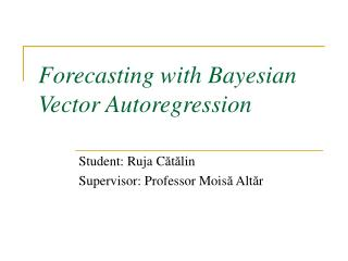 Forecasting with Bayesian Vector Autoregression