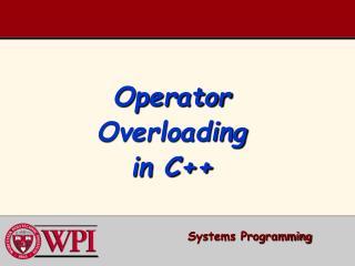 Operator Overloading in C