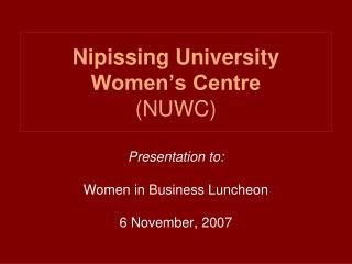 Nipissing University Women's Centre (NUWC)