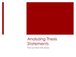 Analyzing Thesis Statements