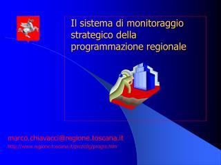 Il sistema di monitoraggio strategico della programmazione regionale