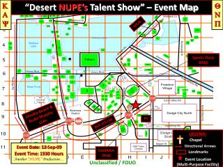 """Desert  NUPE's Talent Show"" – Event Map"