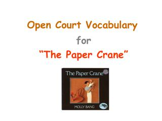 Open Court Vocabulary