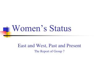 Women's Status