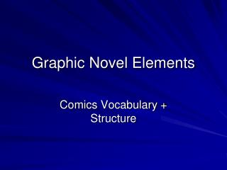 Graphic Novel Elements