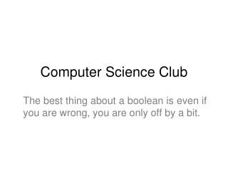 Computer Science Club
