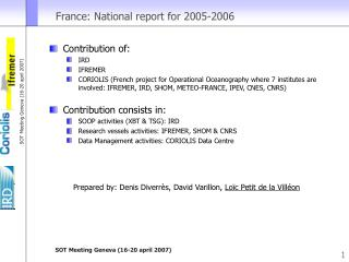 France: National report for 2005-2006