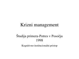 Krizni management