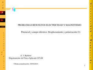 PROBLEMAS RESUELTOS ELECTRICIDAD Y MAGNETISMO