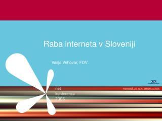 Raba interneta v Sloveniji