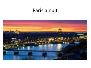 Paris a  nuit