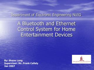 Department of Electronic Engineering NUIG
