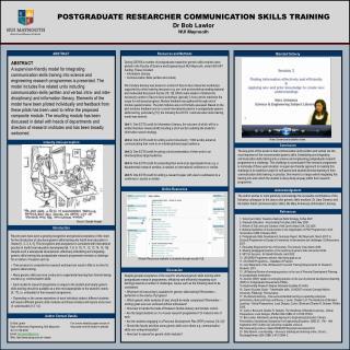 POSTGRADUATE RESEARCHER COMMUNICATION SKILLS TRAINING Dr Bob Lawlor NUI Maynooth