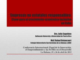 Empresas  no  e statales responsables:  Clave  para el crecimiento económico inclusivo en  Cuba
