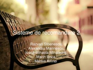 Sisteme de recomandare 2