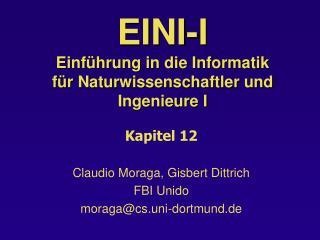 EINI-I Einführung in die Informatik  für Naturwissenschaftler und Ingenieure I