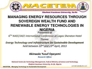 by Akinwale  Yusuf  Opeyemi Research Officer