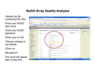 NuGO Array Quality Analysis