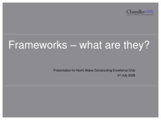 Frameworks – what are they?