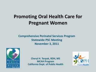 Promoting Oral Health Care for Pregnant Women