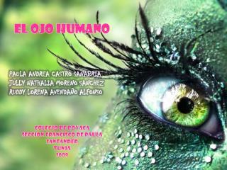 EL OJO HUMANO      PAULA ANDREA CASTRO SANABRIA JULLY NATHALIA MORENO SANCHEZ RUDDY LORENA AVENDA O ALFONSO     COLEGIO