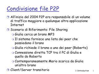 Condivisione file P2P