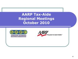 AARP Tax-Aide  Regional Meetings October 2010