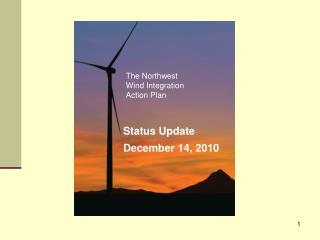 The Northwest Wind Integration Action Plan