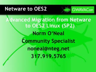 Netware to OES2