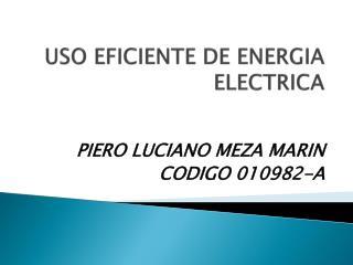 USO EFICIENTE DE ENERGIA ELECTRICA